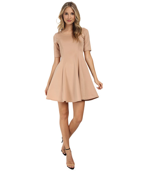 Gabriella Rocha - Cassidy Scuba Skater Dress (Beige) Women's Dress