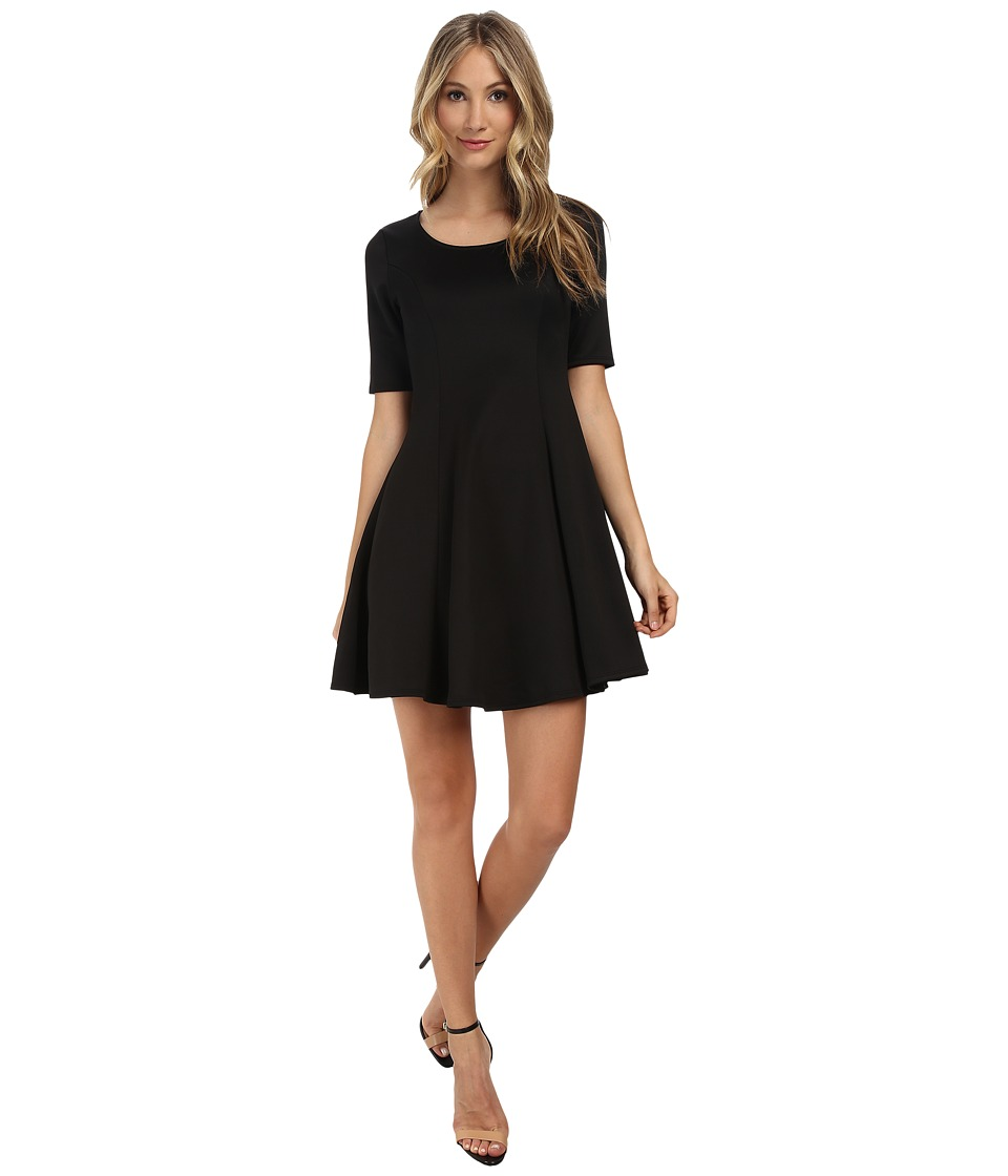 Gabriella Rocha - Cassidy Scuba Skater Dress (Black) Women's Dress