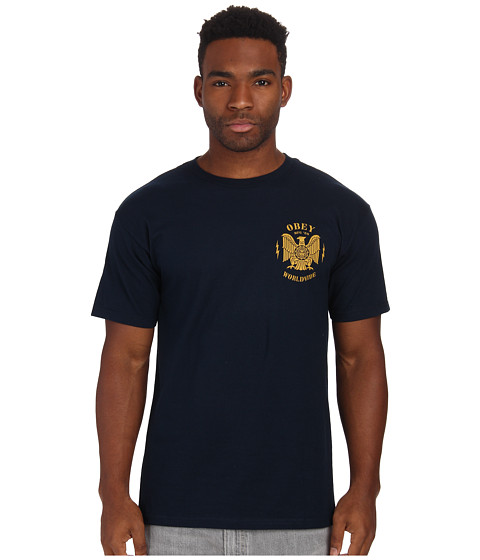 Obey - Majestic Eagle Tee (Navy) Men's T Shirt