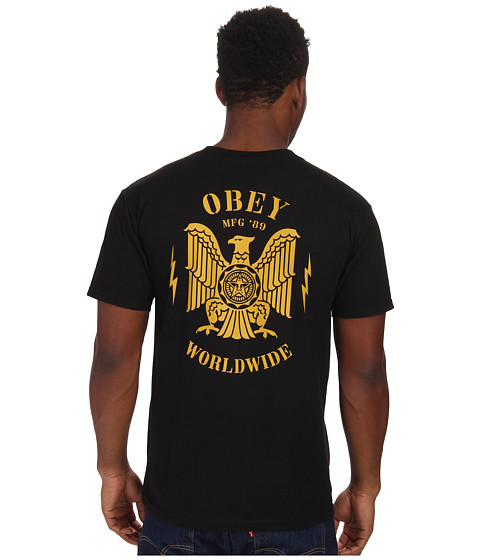 Obey - Majestic Eagle Tee (Black) Men's T Shirt