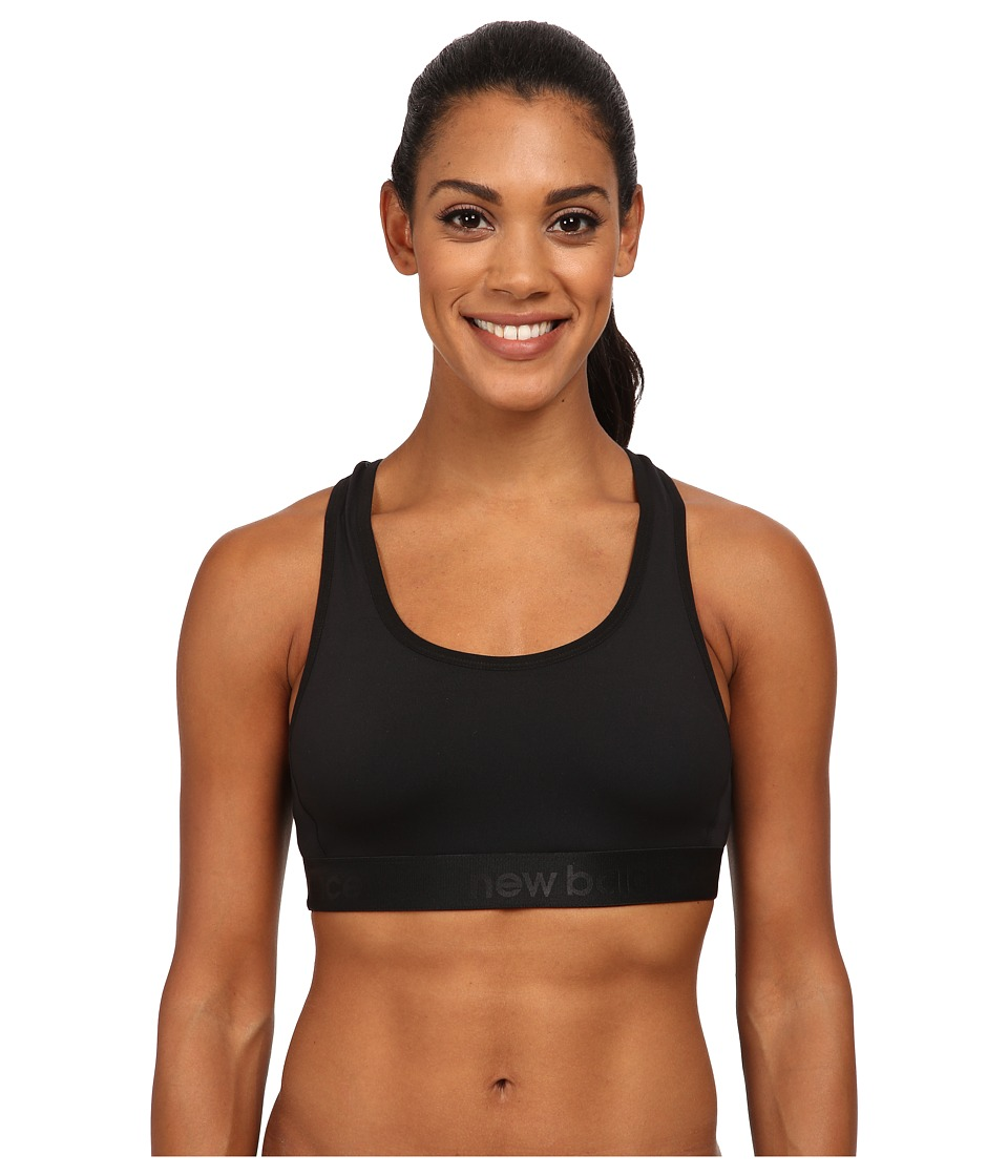 New Balance - Low/Medium Impact Sports Bra (Black) Women's Bra
