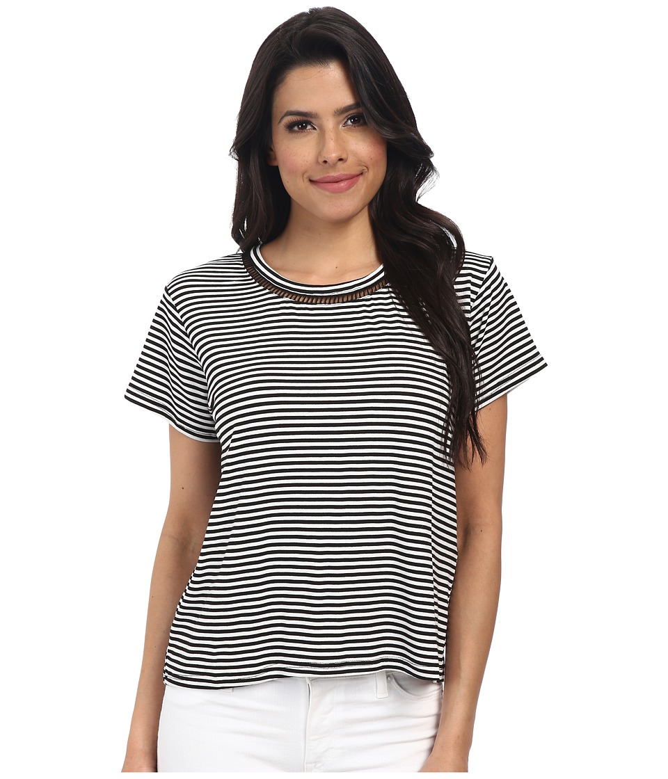 MINKPINK - Field Of Dreams Top (Black/White) Women