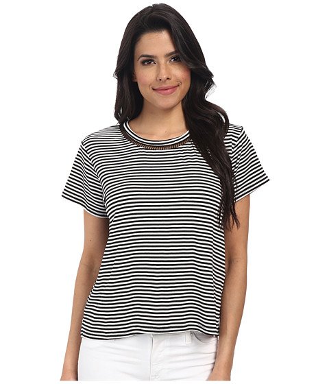 MINKPINK - Field Of Dreams Top (Black/White) Women's Clothing