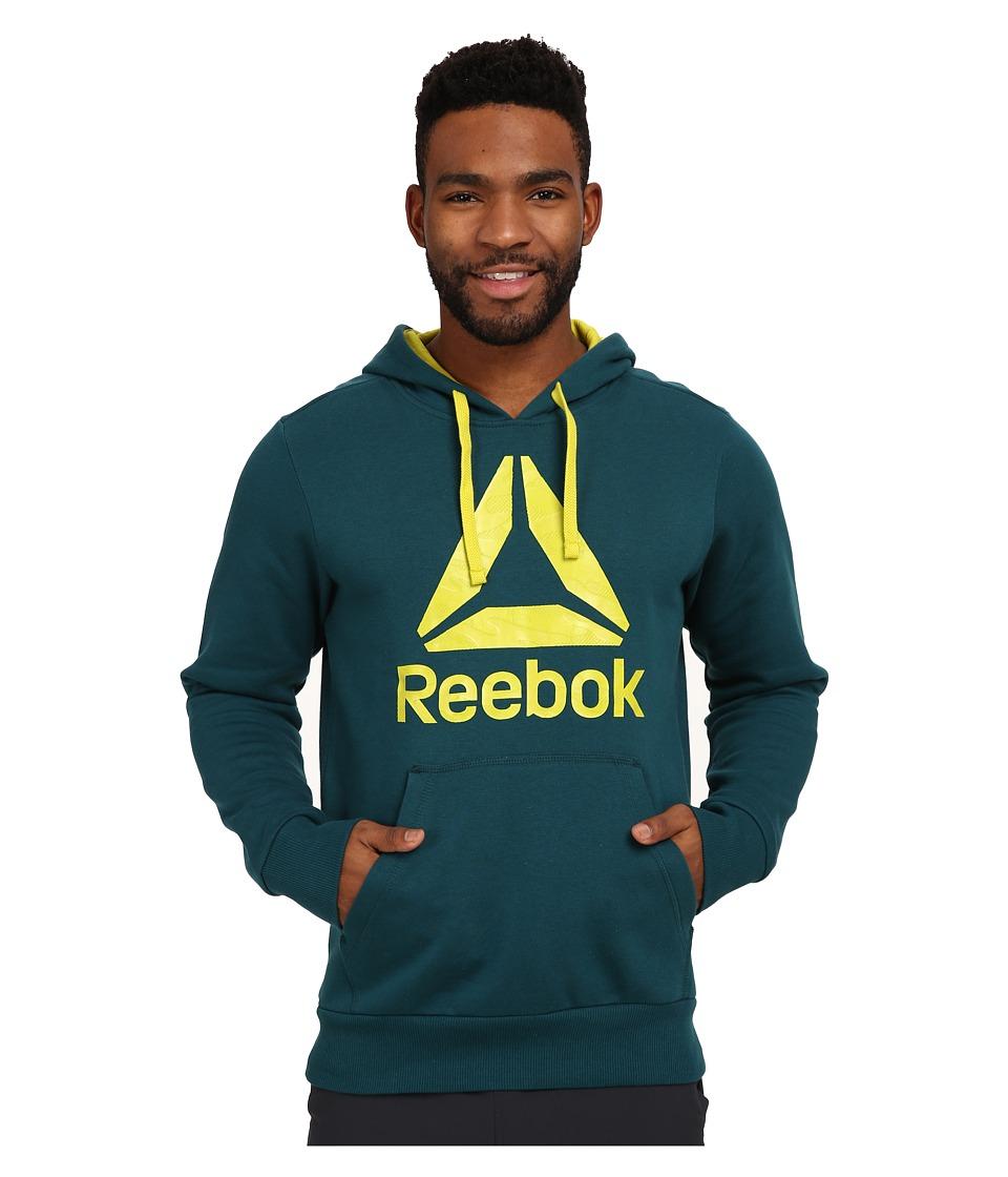 Reebok - Brushed Hoodie (Deep Teal) Men's Sweatshirt
