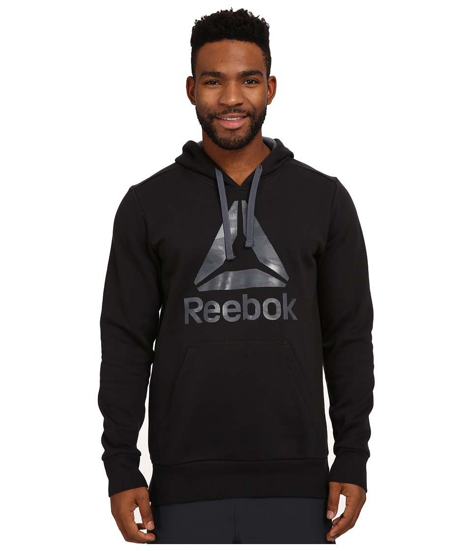 Reebok - Brushed Hoodie (Black) Men's Sweatshirt
