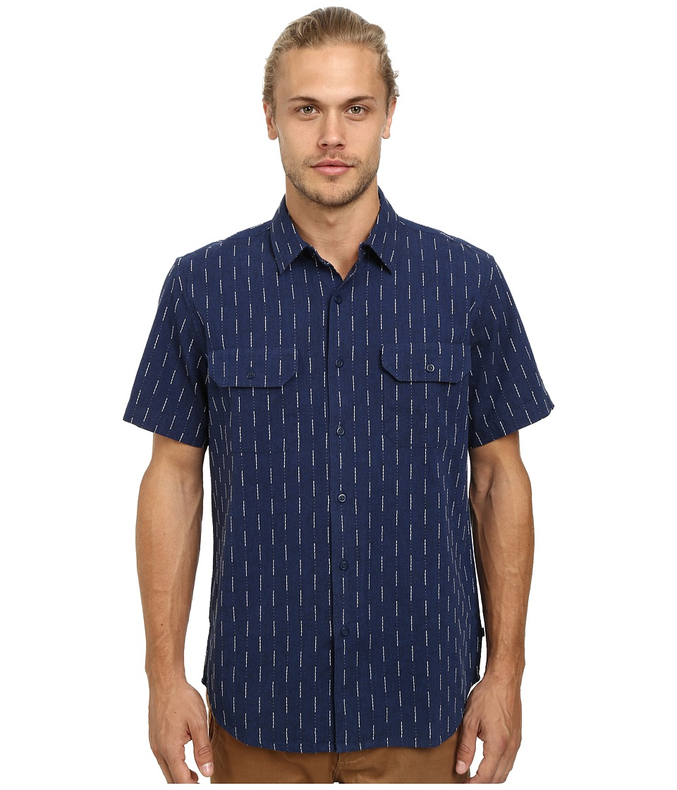 Obey - Norris Short Sleeve Woven (Navy Multi) Men's Clothing