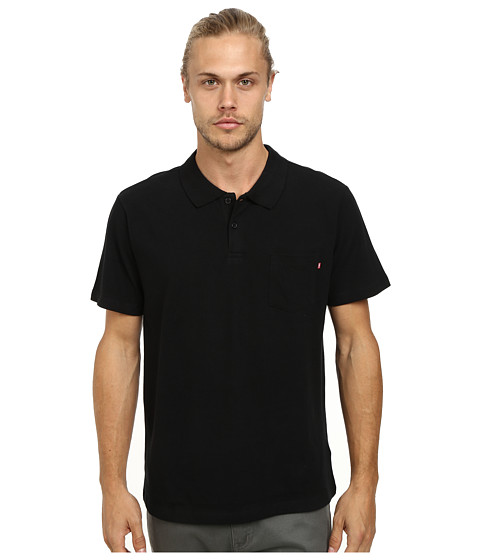 Obey - Cruz Pocket Polo (Black) Men's Clothing
