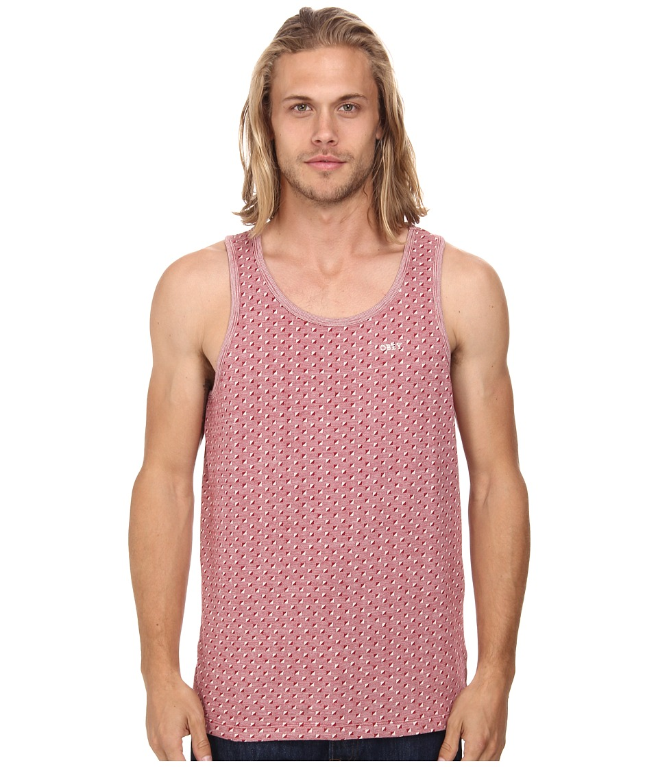 Obey - Pico Tank Top (Red Multi) Men