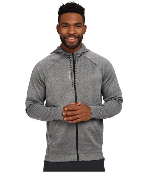 Reebok - Workout Ready Poly Full Zip Fleece (Dark Grey Heather) Men's Fleece