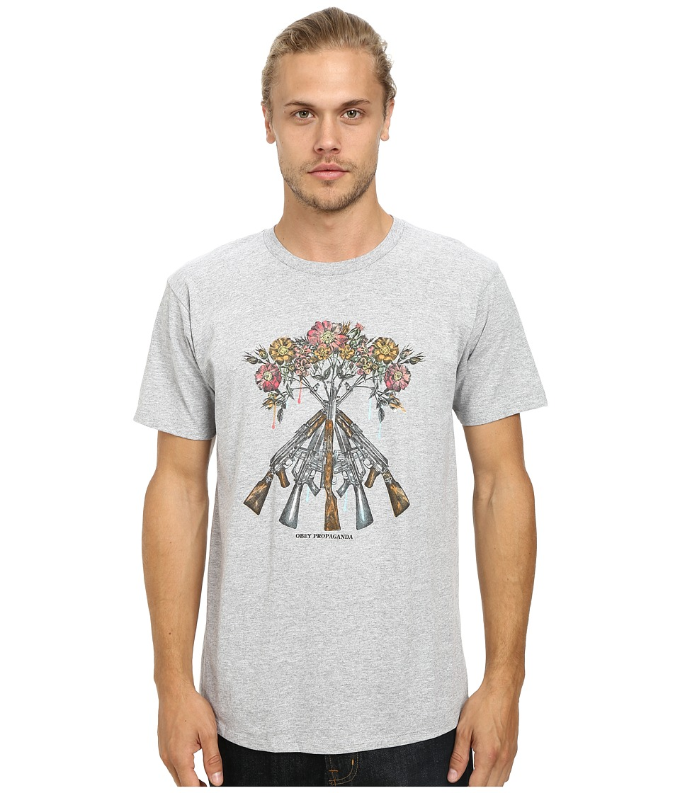 Obey - Tons Of Guns Tee (Heather Grey) Men's T Shirt