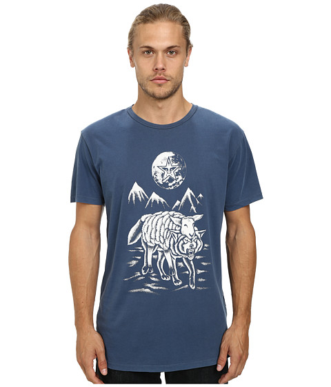Obey - Run To The Hills Tee (Dark Denim) Men