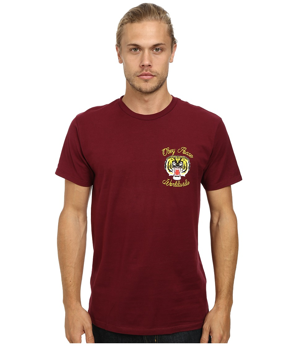 Obey - Tiger Kai Tee (Burgundy) Men