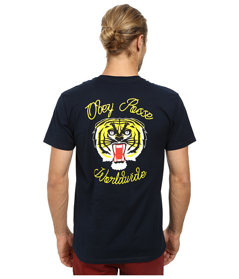 Obey - Tiger Kai Tee (Navy) Men's T Shirt