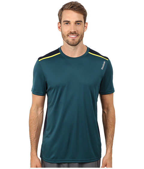 Reebok - Workout Ready Tech Top (Deep Teal) Men's Clothing