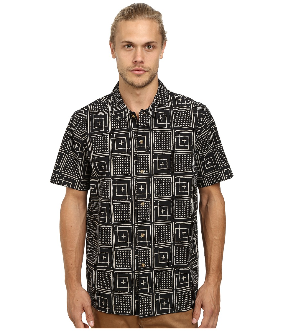 Obey - Riveria Short Sleeve Woven (Black Multi) Men's Clothing