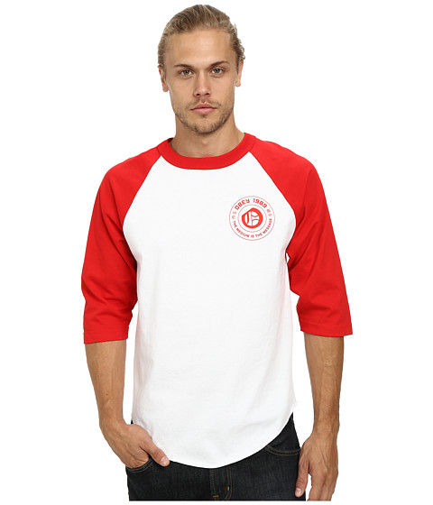 Obey - New English Raglan (White/Red) Men's Clothing