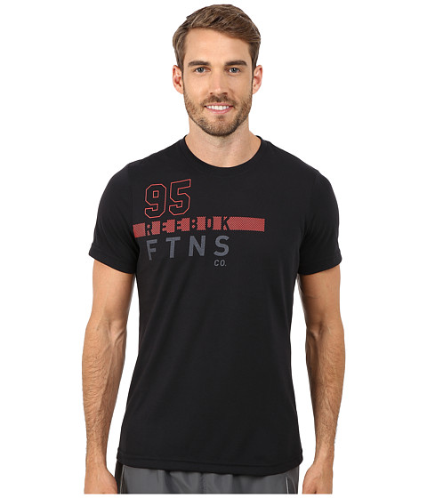 Reebok - Workout Ready Fitness Graphic Tee (Black) Men's T Shirt