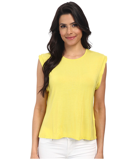 MINKPINK - Modal Roll Sleeve Tank Top (Citrus) Women's Sleeveless