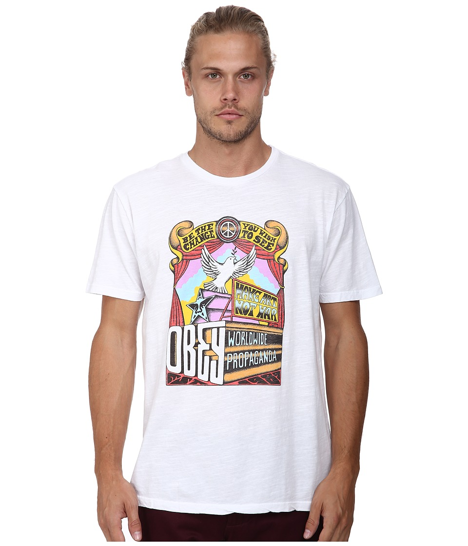 Obey Sign Age Tee (White) Men