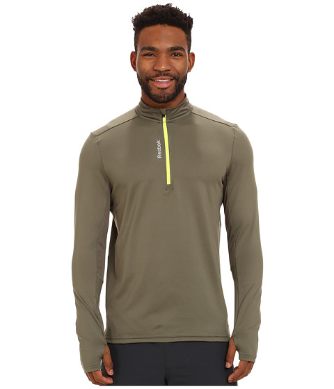 Reebok - Running Essentials Long Sleeve 1/4 Zip (Modern Olive) Men