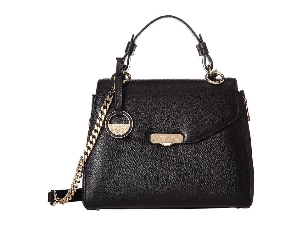Versace Collection - Satchel with Gold Hardware (Black) Satchel Handbags