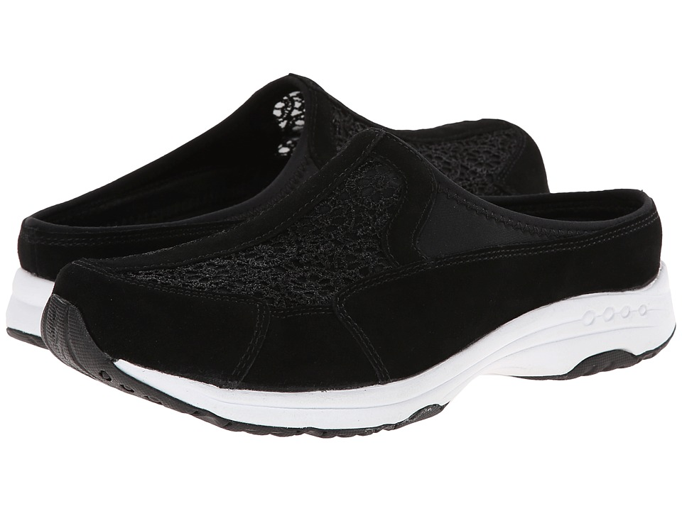 Easy Spirit - Travellace (Black Multi Suede) Women's Shoes