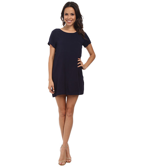 MINKPINK - Panelled Tee Dress (Navy) Women