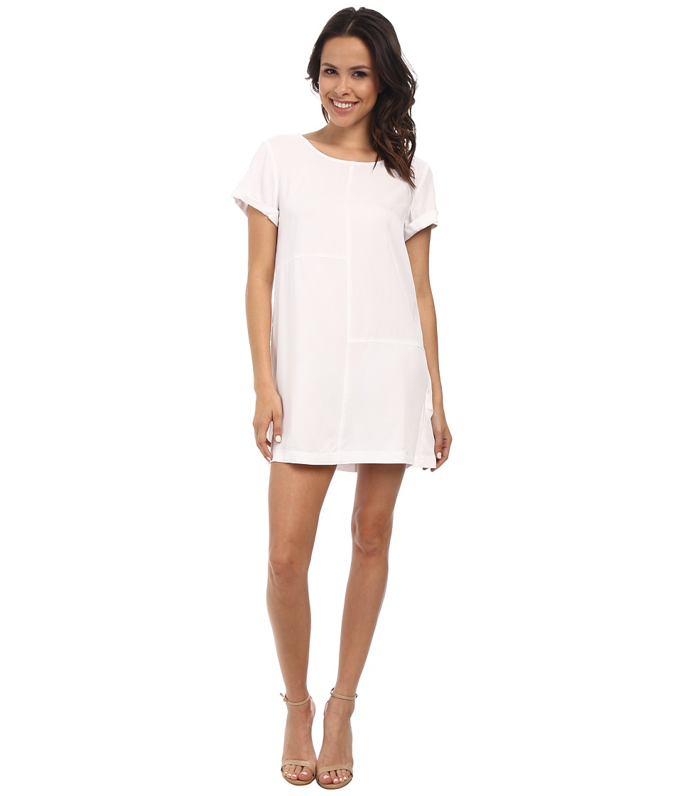 MINKPINK - Panelled Tee Dress (White) Women's Dress