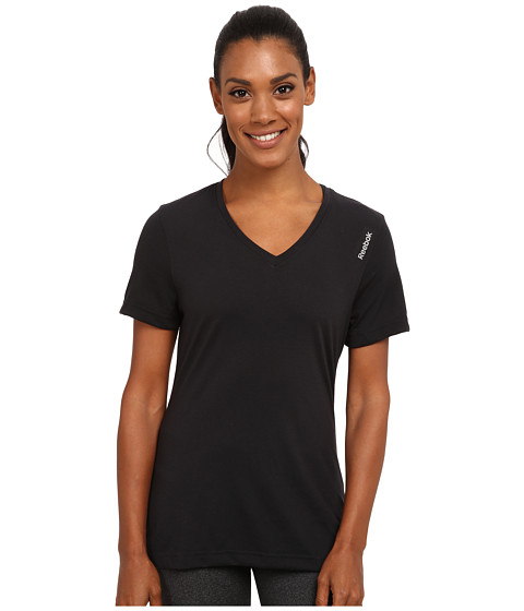 Reebok - Workout Ready Supremium Tee (Black) Women's T Shirt