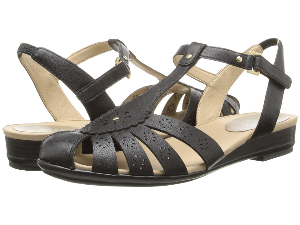 Easy Spirit - Delcine (Black/Black Leather) Women