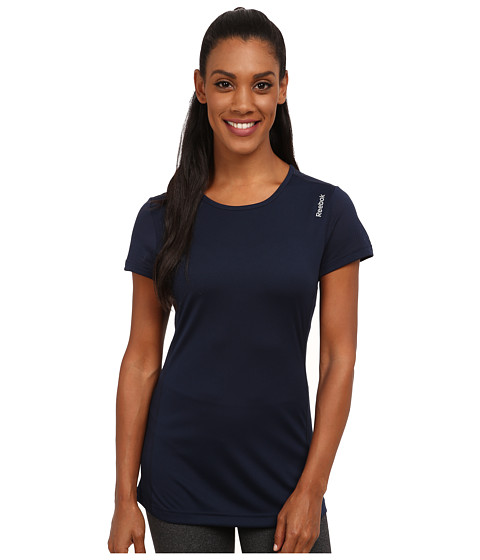 Reebok - Running Essentials Short Sleeve Tee (Faux Indigo) Women's Sleeveless