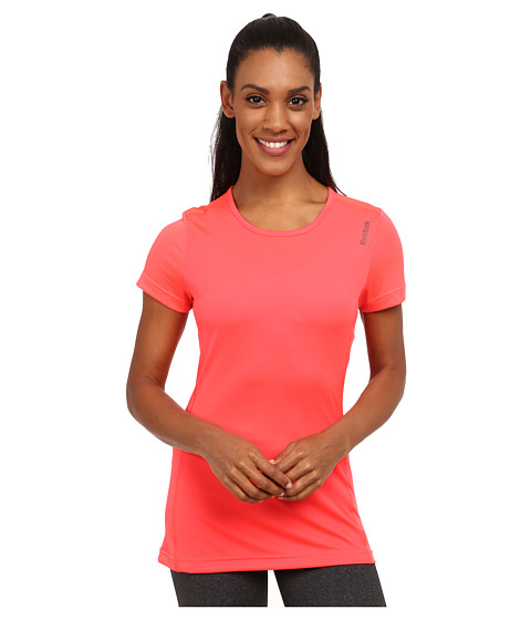 Reebok - Running Essentials Short Sleeve Tee (Neon Cherry) Women