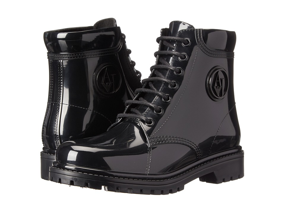 Armani Jeans - Jelly Lace Up Boot (Black) Women's Lace-up Boots