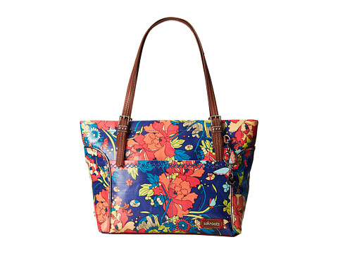 Sakroots - Artist Circle Medium Satchel (Royal Flower Power) Tote Handbags