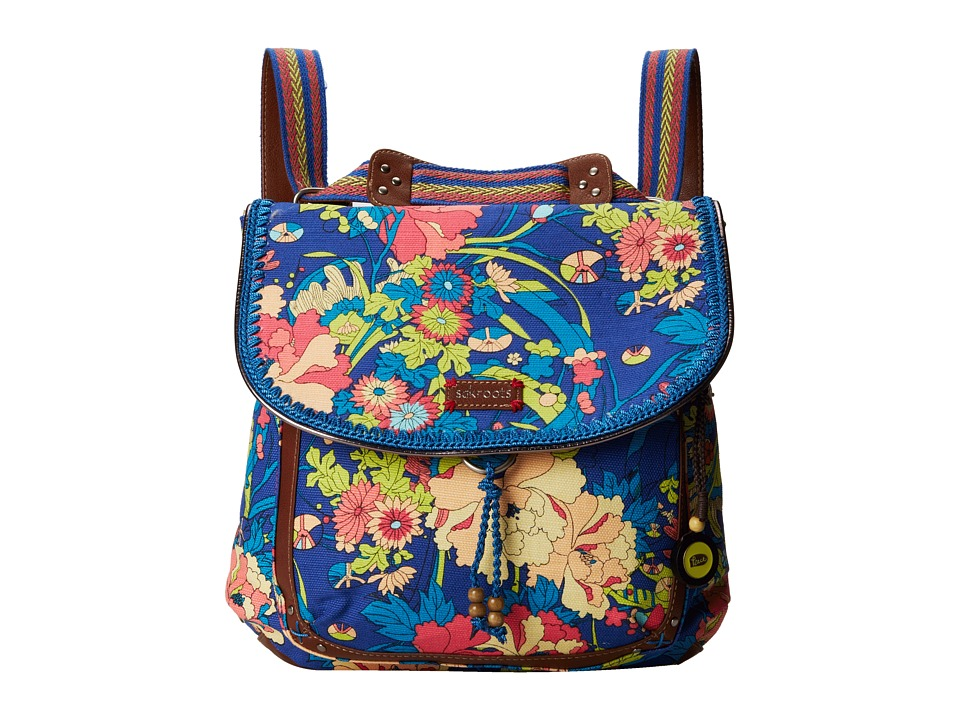 Sakroots - Artist Circle Convertible Backpack (Royal Flower Power) Backpack Bags