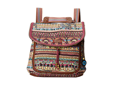 Sakroots - Artist Circle Convertible Backpack (Orchid One World) Backpack Bags
