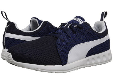 PUMA - Carson Runner Knit (Peacoat/Sodalite Blue/White) Men's Shoes