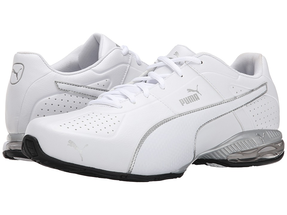 PUMA - Cell Surin 2 (White/Puma Silver) Men's Shoes
