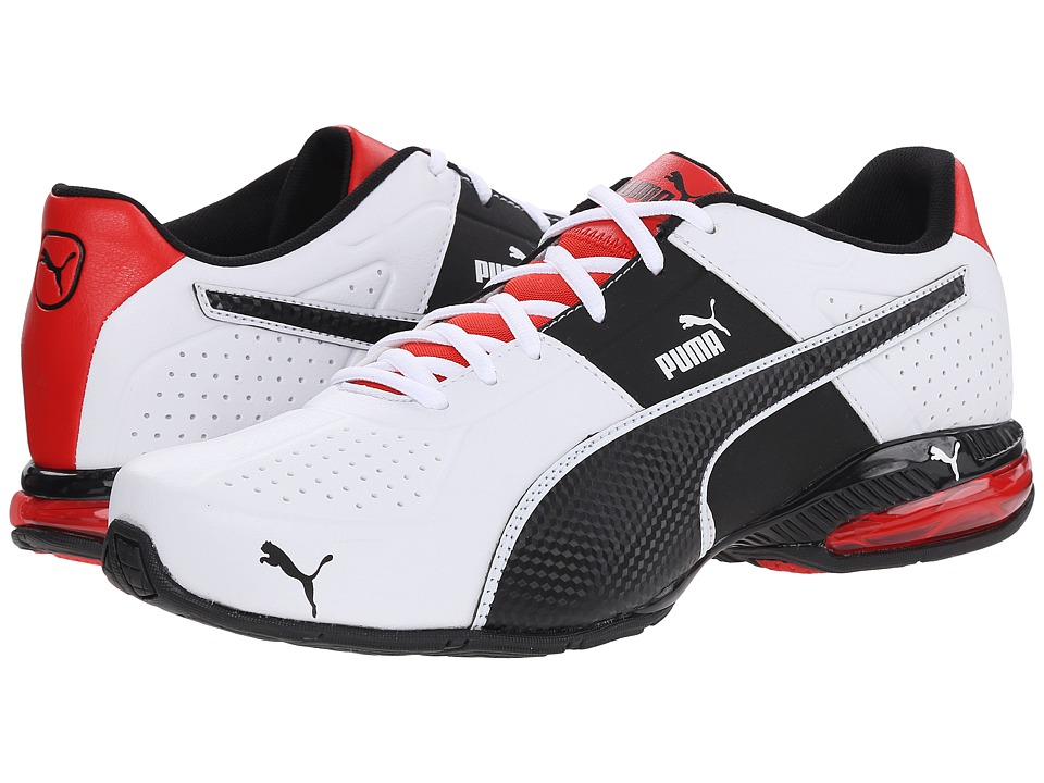 PUMA - Cell Surin 2 (White/Black/Flame Scarlet) Men's Shoes
