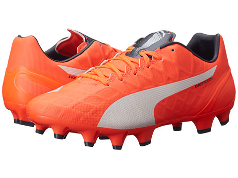 PUMA - evoSPEED 4.4 FG (Lava Blast/White/Total Eclipse) Men