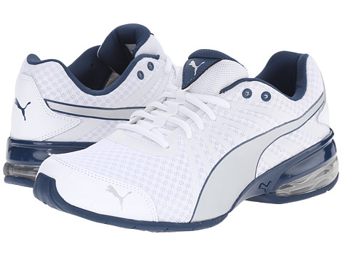 PUMA - Cell Kilter (White/Puma Silver/Poseidon) Men's Shoes