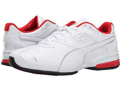 PUMA - Tazon 6 Fracture (White/Puma Silver/High Risk Red) Men
