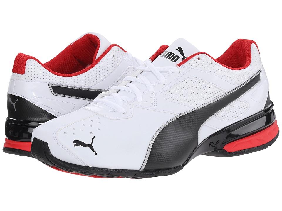 PUMA - Tazon 6 (White/Black/Puma Silver) Men's Shoes