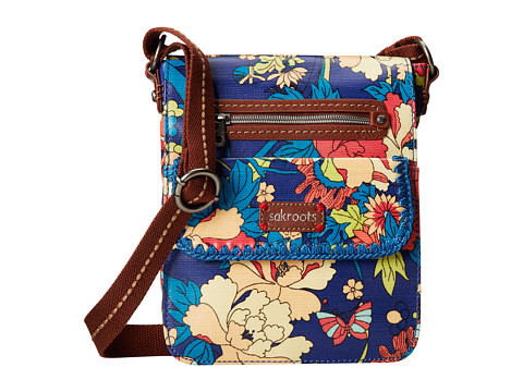 Sakroots - Artist Circle Small Flap Messenger (Royal Flower Power) Cross Body Handbags