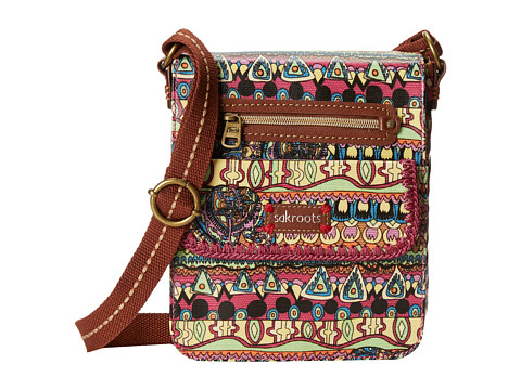 Sakroots - Artist Circle Small Flap Messenger (Orchid One World) Cross Body Handbags