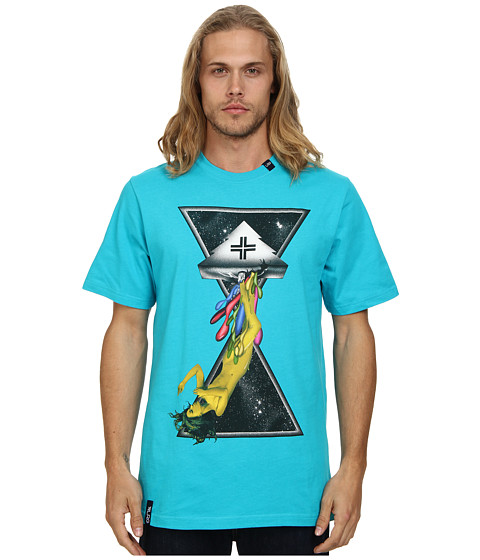L-R-G - Space Drips Tee (Turquoise) Men's Short Sleeve Pullover