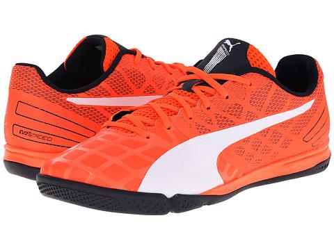 PUMA - evoSPEED Sala 3.4 (Lava Blast/White/Total Eclipse) Men's Soccer Shoes