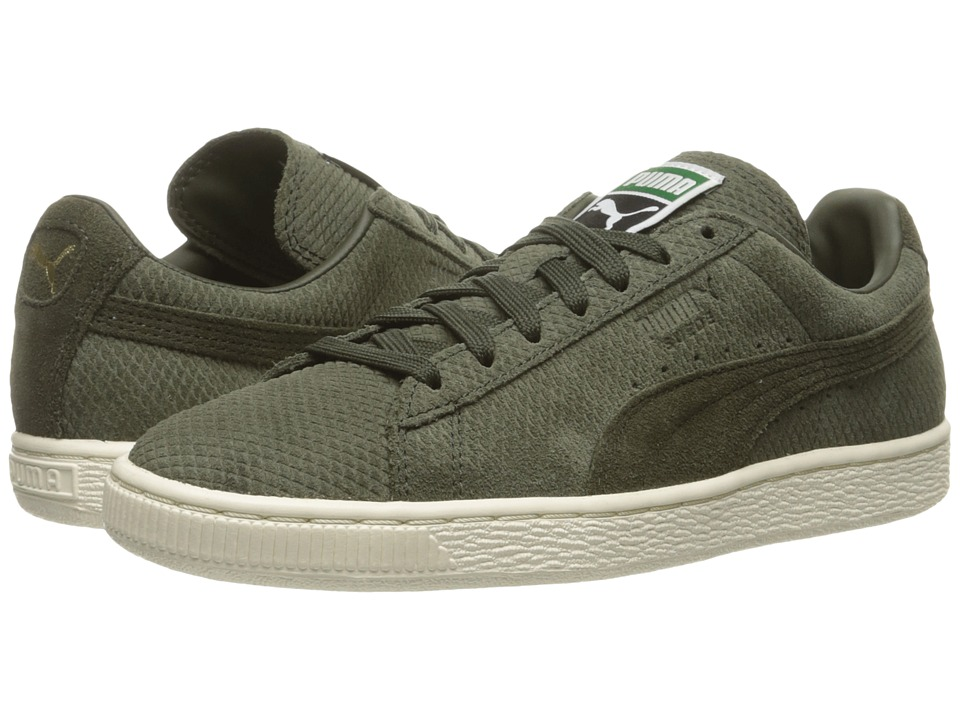 PUMA - Suede Classic + Mod Heritage (Forest Night/Whisper White) Men