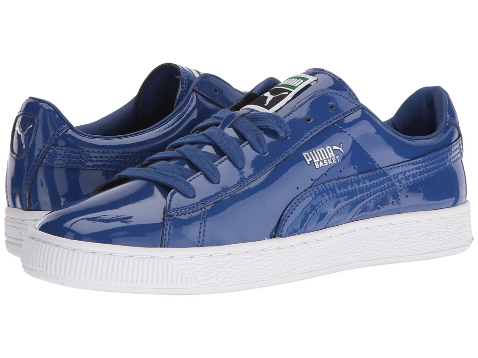 PUMA - Basket Matte Shine (Limoges/White) Men's Lace up casual Shoes