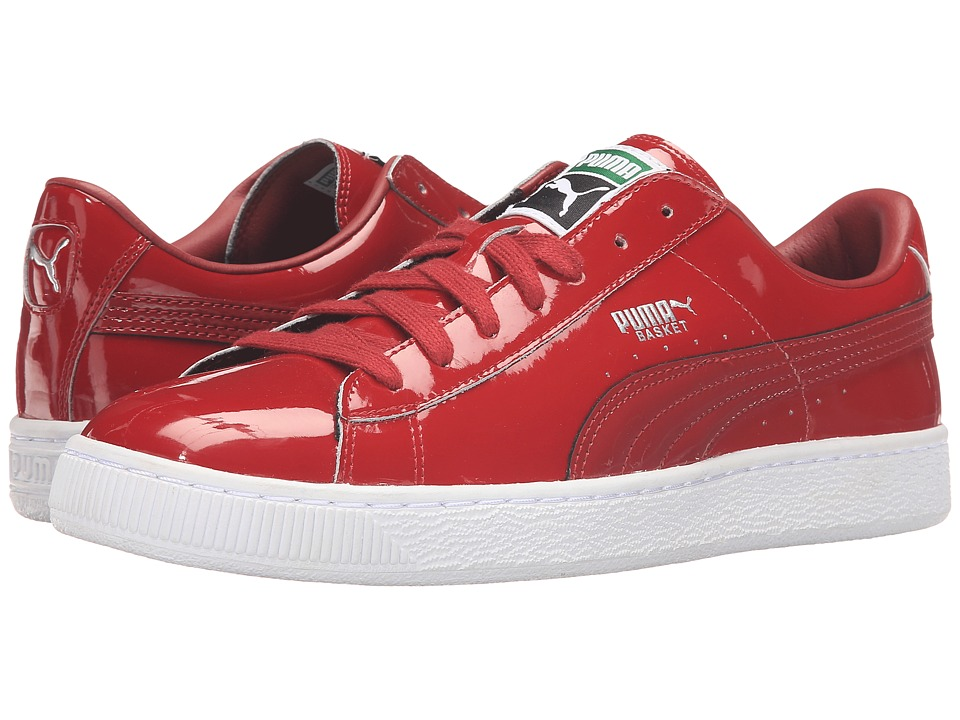 PUMA - Basket Matte Shine (Rio Red/White) Men's Lace up casual Shoes